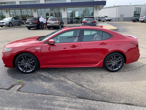 Pre-Owned 2019 Acura TLX w/A-Spec Pkg Red Leather FWD
